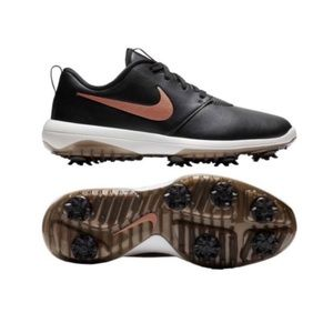 Nike Rosche tour g waterproof gold shoes NEW 7